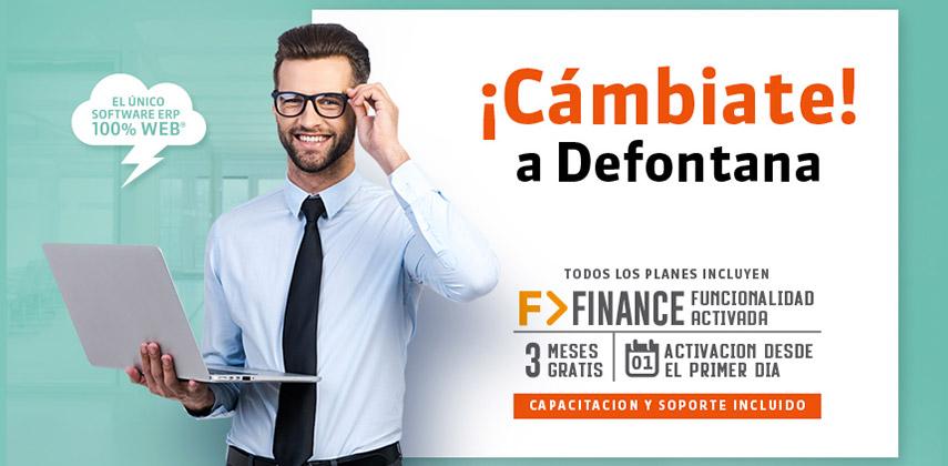 Cambiate a Defontana ERP, Finance