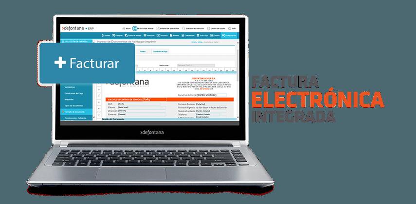 Factura electronica integrada Defontana