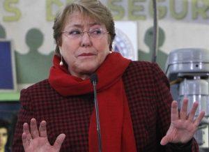 Michelle Bachelet, visito el Liceo Industrial Chileno Alemán